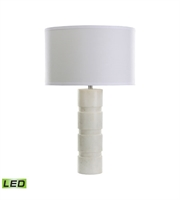 Picture for category Dimond 8989-002-LED Round Stacked Table Lamps 16in White Marble Marble 1-light