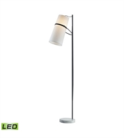 Picture for category Dimond D2730-LED Banded Shade Floor Lamps 20in Matte Black Metal 1-light