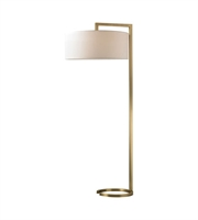 Picture for category Dimond D2739 Ring Base Floor Lamps 22in Antique Brass Metal 2-light