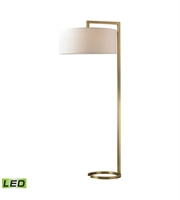 Picture for category Dimond D2739-LED Ring Base Floor Lamps 22in Antique Brass Metal 2-light