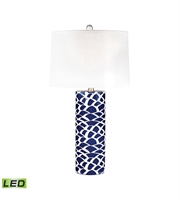 Picture for category Dimond D2792-LED Scale Sketch Table Lamps 16in Navy Blue White Ceramic 1-light