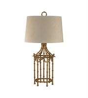 Picture for category Dimond D2864 Bamboo Birdcage Table Lamps 17in Gold Leaf Metal 1-light
