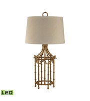 Picture for category Dimond D2864-LED Bamboo Birdcage Table Lamps 17in Gold Leaf Metal 1-light