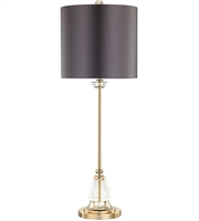 Picture for category Dimond D3080 Constance Table Lamps 11in Clear Gold Plate Crystal Metal 1-light