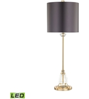 Picture for category Dimond D3080-LED Constance Table Lamps 11in Clear Gold Plate Crystal Metal