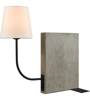 Picture for category Dimond D3206-LED Sector Table Lamps 8in Concrete Oil Rubbed Bronze 1-light