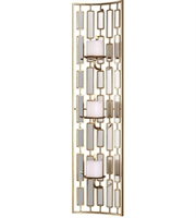 Picture for category Uttermost 04045 Loire Wall Sconces 10in Gold Metal Mirror Mdf