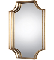 Picture for category Uttermost 09123 Lindee Mirrors 30in Antiqued Gold Mirror Metal Mdf