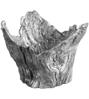 Picture for category Uttermost 20149 Massimo Decor 10in Wood Textured Siler Resin