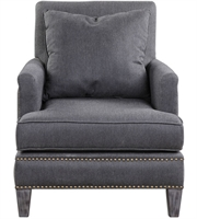 Picture for category Uttermost 23303 Connolly Chairs 30in Charcoal Gray