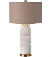 Picture for category Uttermost 27311-1 Codru Table Lamps 16in Gloss White Ceramic