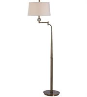 Picture for category Uttermost 28106 Melini Floor Lamps 32in Steel Metal Fabric Crystal