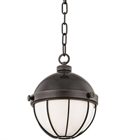 Picture for category Hudson Valley 2309-OB Sumner Pendants Old Bronze Metal Glass 1-light