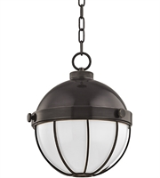 Picture for category Hudson Valley 2312-OB Sumner Pendants Old Bronze Metal Glass 1-light