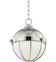 Picture for category Hudson Valley 2312-PN Sumner Pendants Polished Nickel Metal Glass 1-light