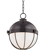 Picture for category Hudson Valley 2315-OB Sumner Pendants Old Bronze Metal Glass 1-light
