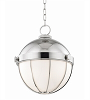 Picture for category Hudson Valley 2315-PN Sumner Pendants Polished Nickel Metal Glass 1-light