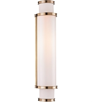 Picture for category Hudson Valley 6622-AGB Malcolm Bath Lighting 5in Aged Brass Metal Glass 2-light