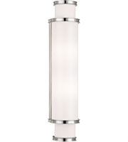 Picture for category Hudson Valley 6622-PN Malcolm Bath Lighting 5in Polished Nickel Metal Glass