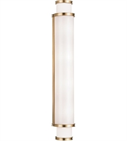 Picture for category Hudson Valley 6630-AGB Malcolm Bath Lighting 5in Aged Brass Metal Glass 4-light