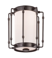 Picture for category Hudson Valley 9709-OB Hyde park Flush Mounts Old Bronze Metal Glass 1-light