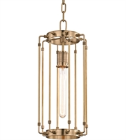 Picture for category Hudson Valley 9710-AGB Hyde park Pendants Aged Brass Metal 1-light