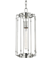 Picture for category Hudson Valley 9710-PN Hyde park Pendants Polished Nickel Metal 1-light
