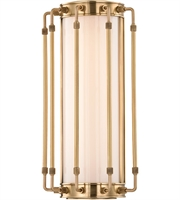 Picture for category Hudson Valley 9712-AGB Hyde park Wall Sconces 8in Aged Brass Metal Glass