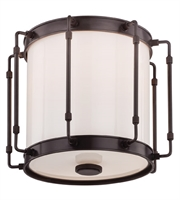 Picture for category Hudson Valley 9713-OB Hyde park Flush Mounts Old Bronze Metal Glass 1-light
