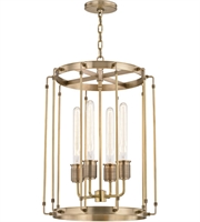 Picture for category Hudson Valley 9716-AGB Hyde park Pendants Aged Brass Metal 4-light