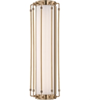 Picture for category Hudson Valley 9720-AGB Hyde park Wall Sconces 8in Aged Brass Metal Glass