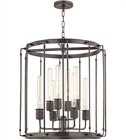 Picture for category Hudson Valley 9722-OB Hyde park Pendants Old Bronze Metal 8-light