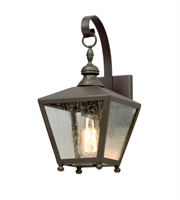 Picture for category Troy B5191 Wall Sconces Mumford Bronze Clear Seeded Aluminum MB 1 Light 14 inch