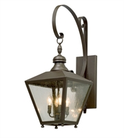 Picture for category Troy B5193 Wall Sconces Mumford Bronze Clear Seeded Aluminum CB 4 Light 30 inch