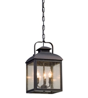 Picture for category Troy F5087 Outdoor Pendant Chamberlain Vintage Bronze Aluminum 3-lights 10 inch