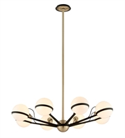 Picture for category Troy F5304 Ace Chandeliers Textured Bronze Brushed Brass Hand Worked Iron