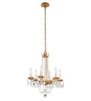 Picture for category Troy F5365 Chandelier Viola Distressed Gold Leaf Hand Worked Iron 5-light 22 in