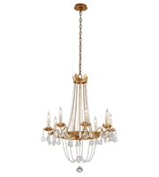 Picture for category Troy F5366 Viola Chandeliers Distressed Gold Leaf Hand Worked Iron 8-light