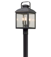 Picture for category Troy P5085 Chamberlain Outdoor Post Light Vintage Bronze Solid Aluminum 3-light