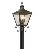 Picture for category Troy P5195 Mumford Outdoor Post Light 12in Bronze Solid Aluminum 4-light