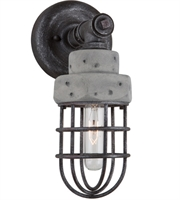 Picture for category Artcraft AC10671 Loft Wall Sconces 5in Slate Grey Metal & Concrete 1-light
