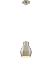 Picture for category Nuvo 62/837 Vessel Mini Pendants 6in Brushed Nickel 1-light