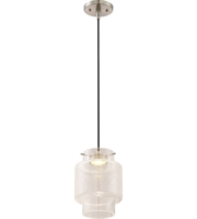 Picture for category Nuvo 62/878 Del Mini Pendants 7in Brushed Nickel 1-light