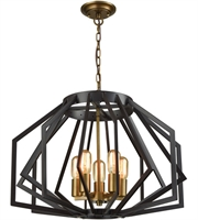 Picture for category Dimond D3133 Fluxx Chandeliers 24in Bronze Metal 5-light