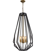 Picture for category Dimond D3134 Fluxx Chandeliers 20in Bronze Metal 4-light