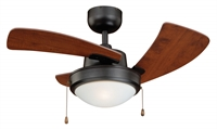 Picture for category Vaxcel F0040 Wolcott Ceiling Fans 36in New Bronze Steel 1-light