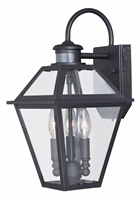 Picture for category Vaxcel T0189 Nottingham Outdoor Lanterns 9in Textured Black Steel 3-light