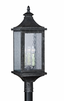 Picture for category Vaxcel T0204 Cavanaugh Outdoor Post Light 10in Athenian Bronze Steel 3-light