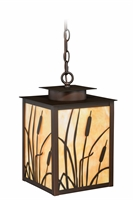 Picture for category Vaxcel T0231 Bulrush Outdoor Pendant 9in Burnished Bronze Steel 1-light