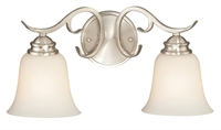 Picture for category Vaxcel W0184 Hartford Bath Lighting 19in Satin Nickel Steel 2-light